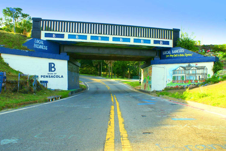 Graffiti Bridge. Downtown Pensacola.